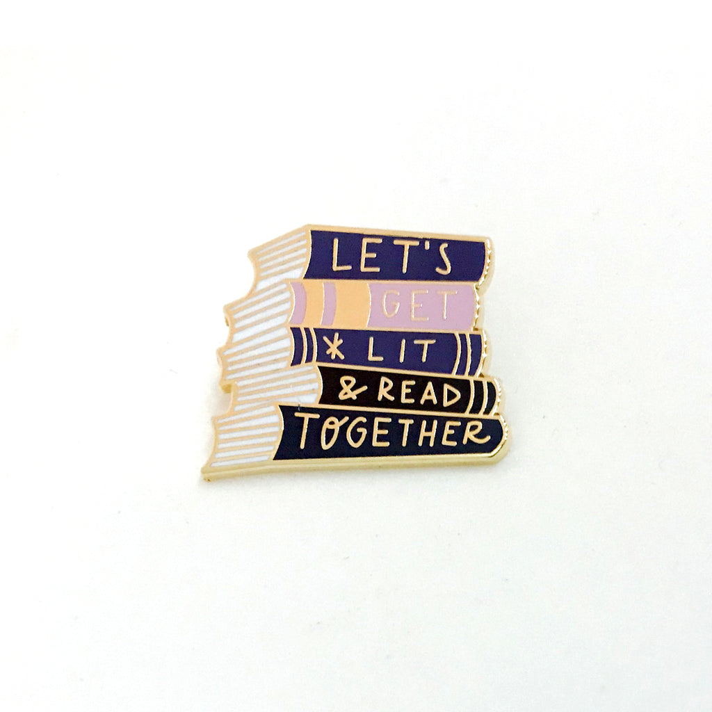 Let's Get Lit & Read Together Pin