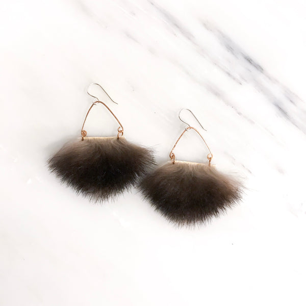 Mini Dark Angular Sea Otter Earrings