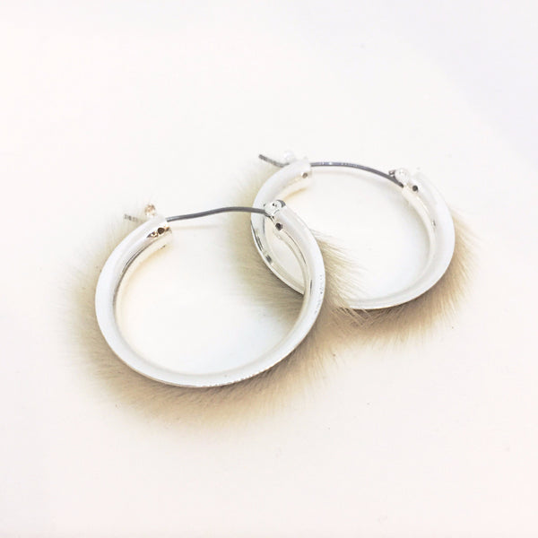 Sealskin Hoop Earrings