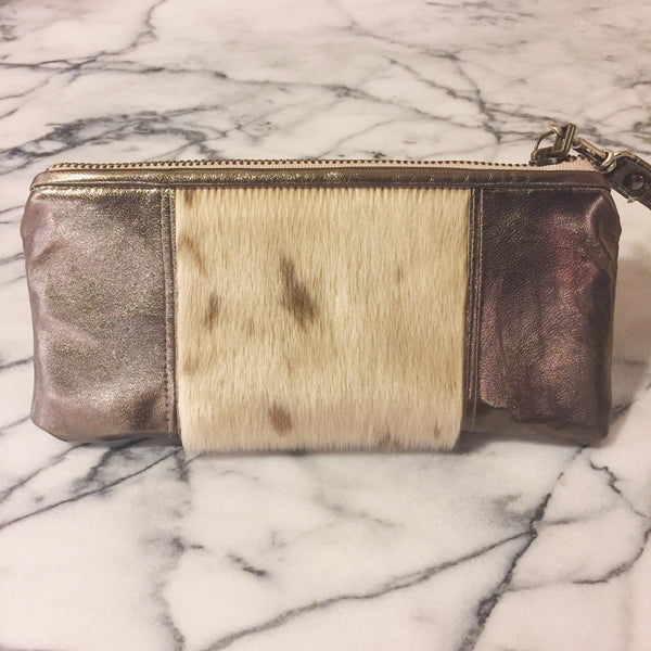 Sealskin and Leather Clutch