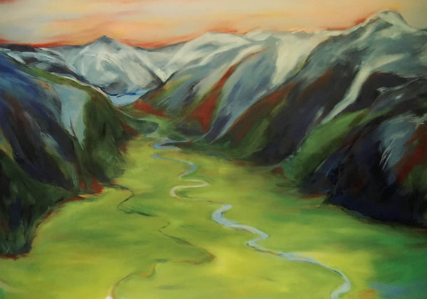 Chugach Valley Giclee Print by MK MacNaughton