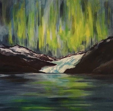 Northern Lights over the Mendenhall Glacier Giclee Print