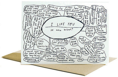 I Like You, So Now What? Letterpress Card