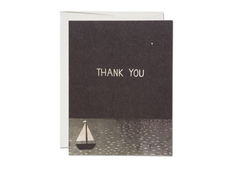 Boat Thank You Card