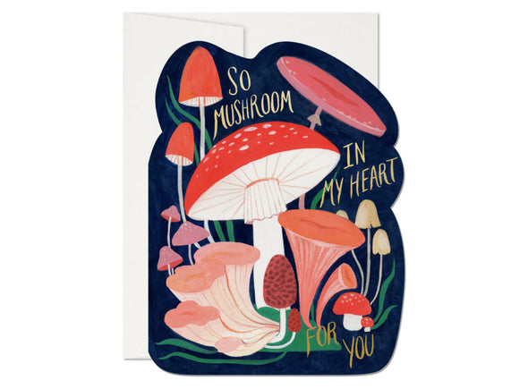 So Mushroom Die Cut Foil Card