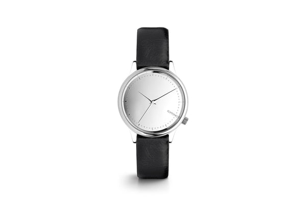 Estelle Watch: Silver/Black Mirror