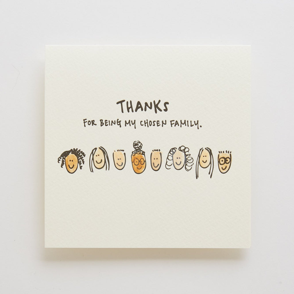 Thanks for Being My Chosen Family Letterpress Card