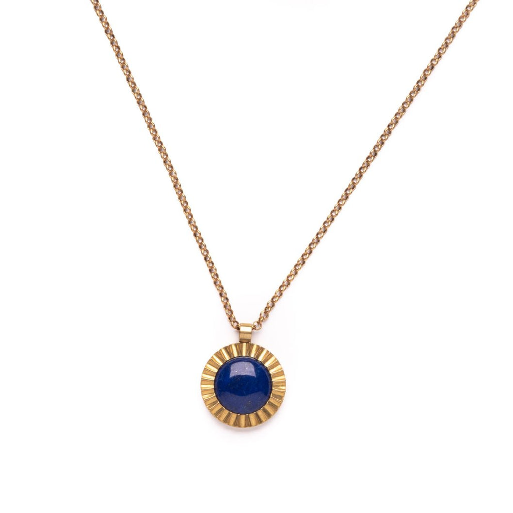 Starburst Necklace with Lapis