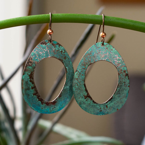 Patina Copper Straight Outta the 90s Earrings