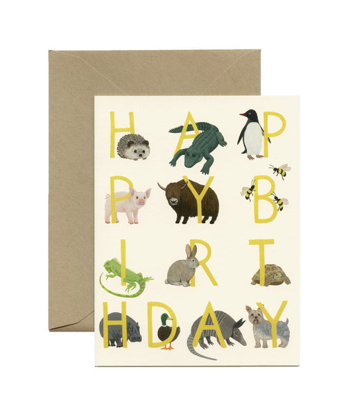 Birthday Menagerie Card