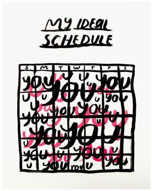 My Ideal Schedule Print