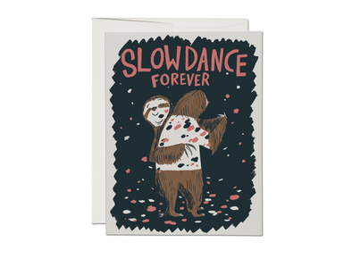 Slow Dance Sloths Love Card