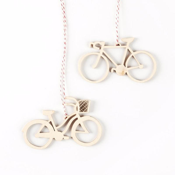 Cruiser and Road Bikes Ornaments