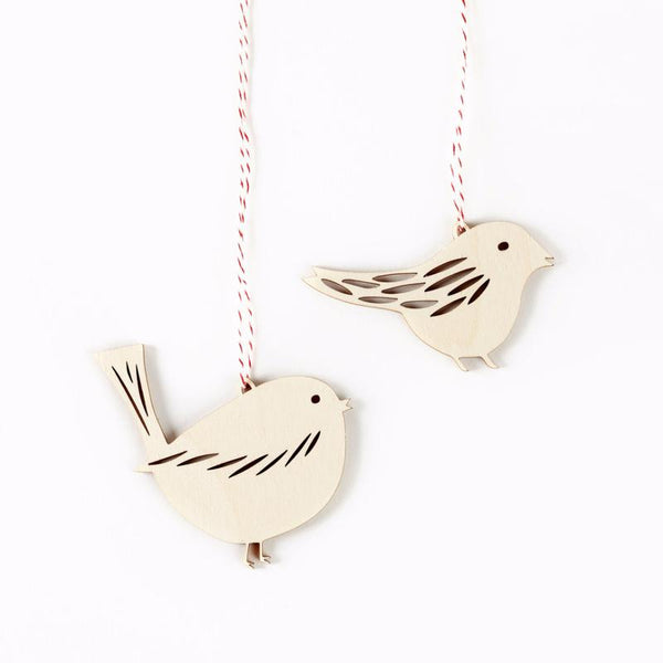 Tiny Bird Ornaments