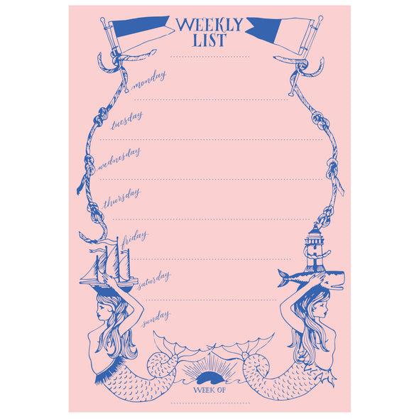 Mermaid Weekly List Pad