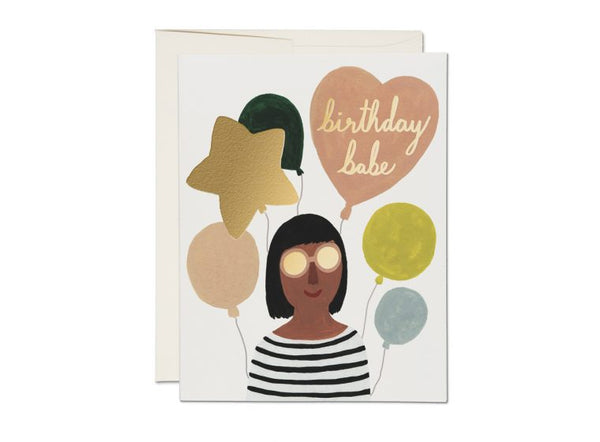 Birthday Babe Foil Card