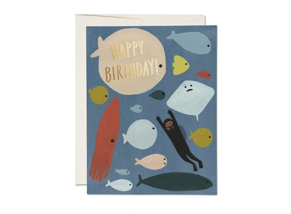Scuba Birthday Foil Card