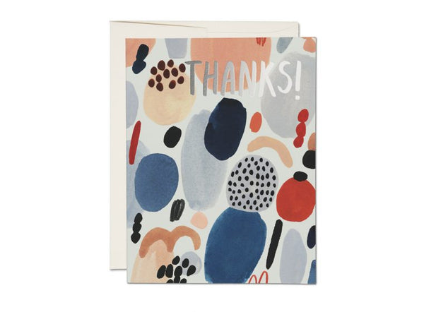 Paint Palette Thank You Foil Card