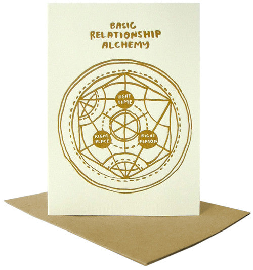 Basic Relationship Alchemy Letterpress Card