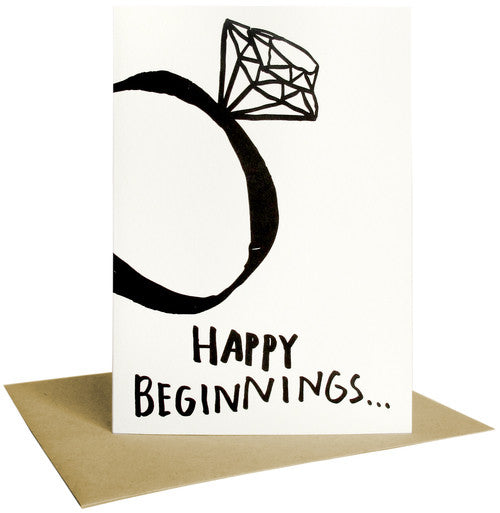 Happy Beginnings - Letterpress Card