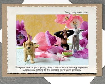 Puppy Patience Card