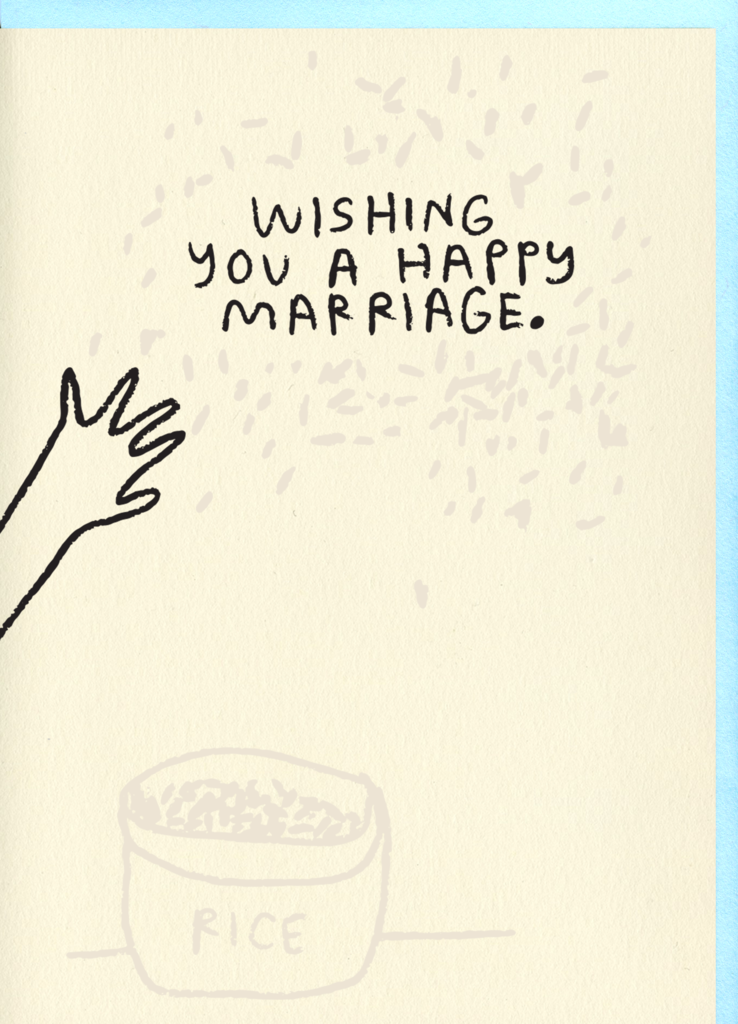Rice Marriage Card