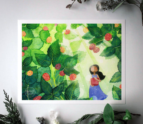 Salmonberry Bliss Print