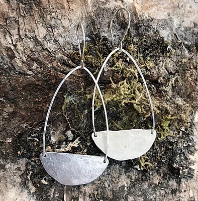 Long Half Moon Earrings