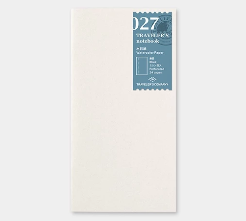 027 Traveler's Refills: Watercolor Paper