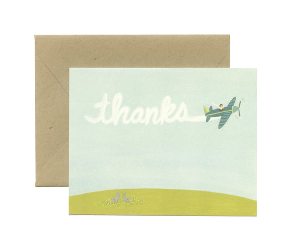 Skywriting Thanks Card