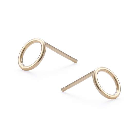 Small Gold Open Circle Studs