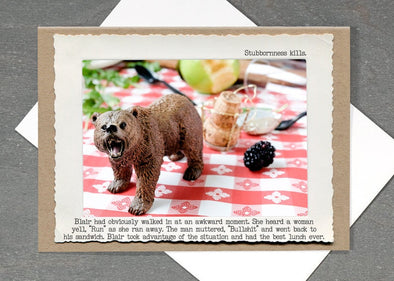 Stubborn Bear Card