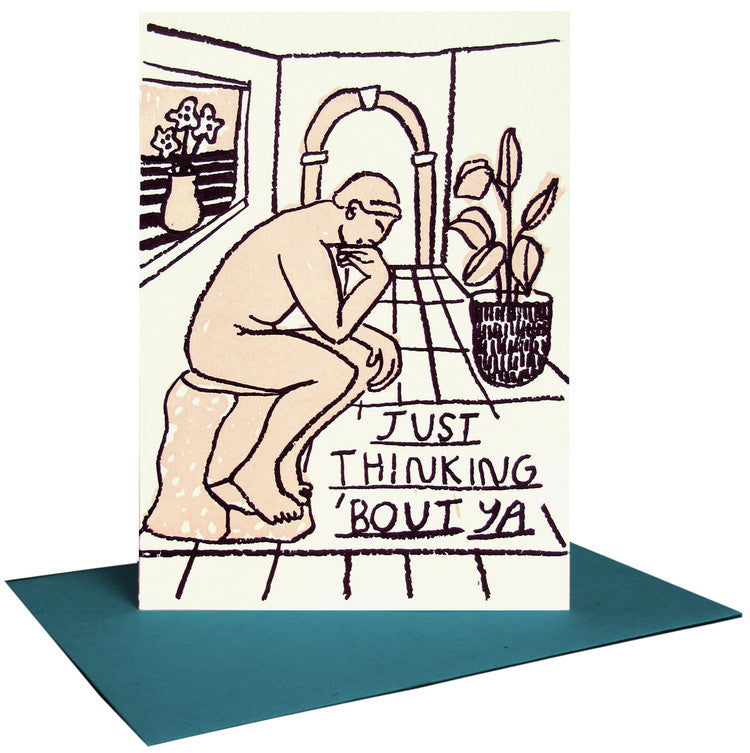 Just Thinking 'Bout Ya Letterpress Card