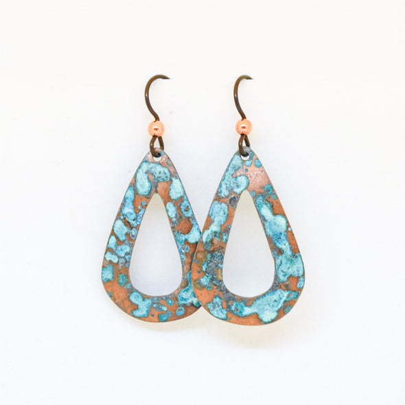 Teardrop with Cutout Earrings