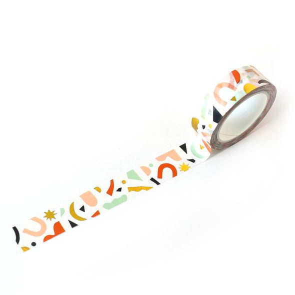 Confetti Pattern Washi Tape - Color & Gold Foil