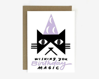 B-Day Magic Cat Card