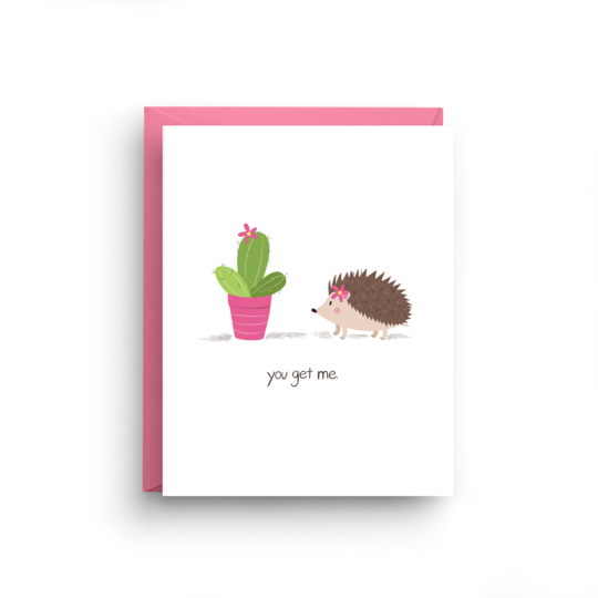 You Get Me - Cactus and Porcupine Card