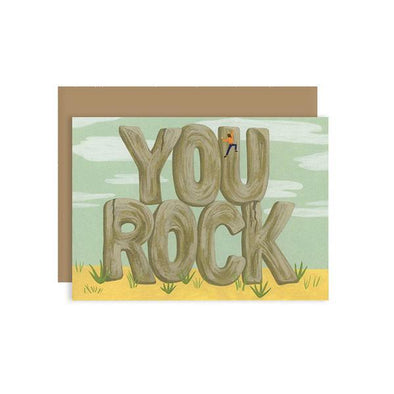 You Rock Congratulations Card