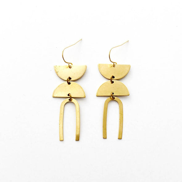 Brass Earrings No. 24