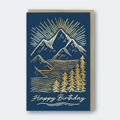 Birthday Mountainscape