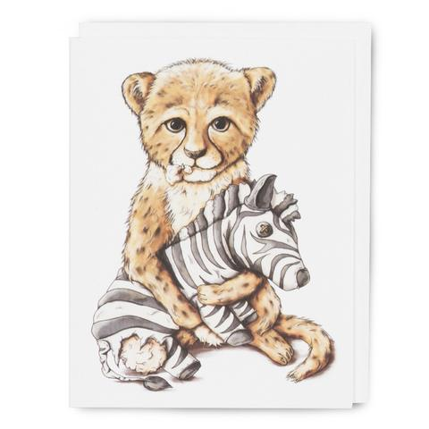 Baby Cheetah Card