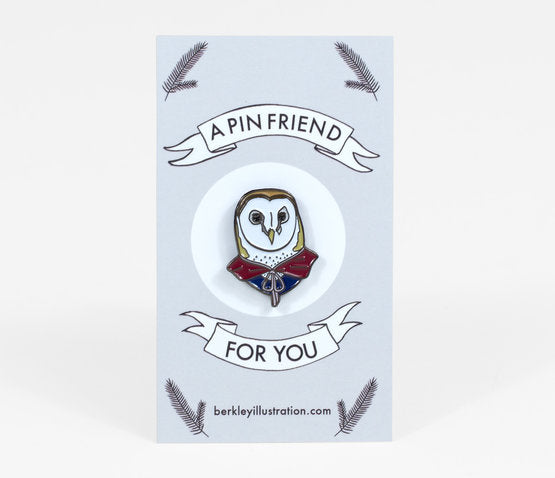 Barn Owl Enamel Pin