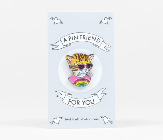 Rainbow Kitten Enamel Pin