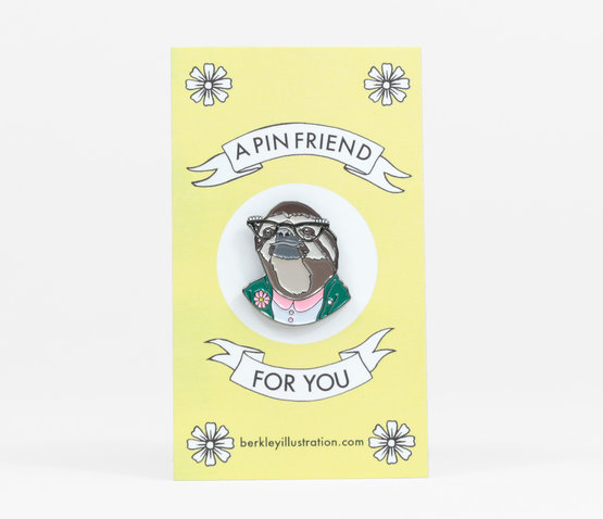 Sloth Lady Enamel Pin