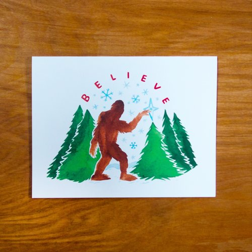Believe Sasquatch Card