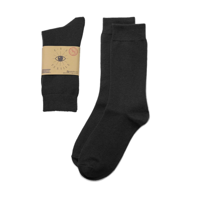 Eye Textile Black Merino Wool Socks