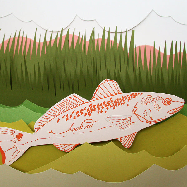 Fish Hooked Die-Cut Card