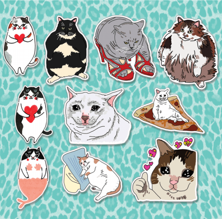 Cat Meme Sticker Pack