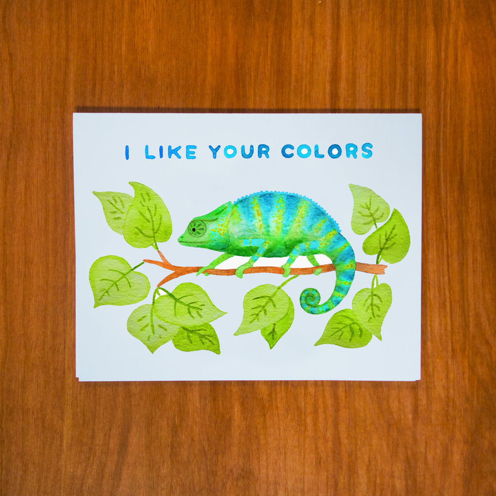 I Like Your Colors Chameleon Card