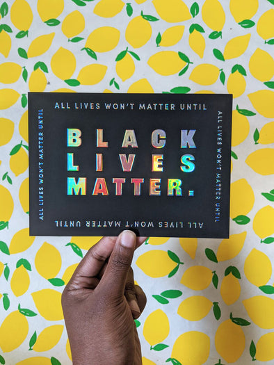 Black Lives Matter Art Card